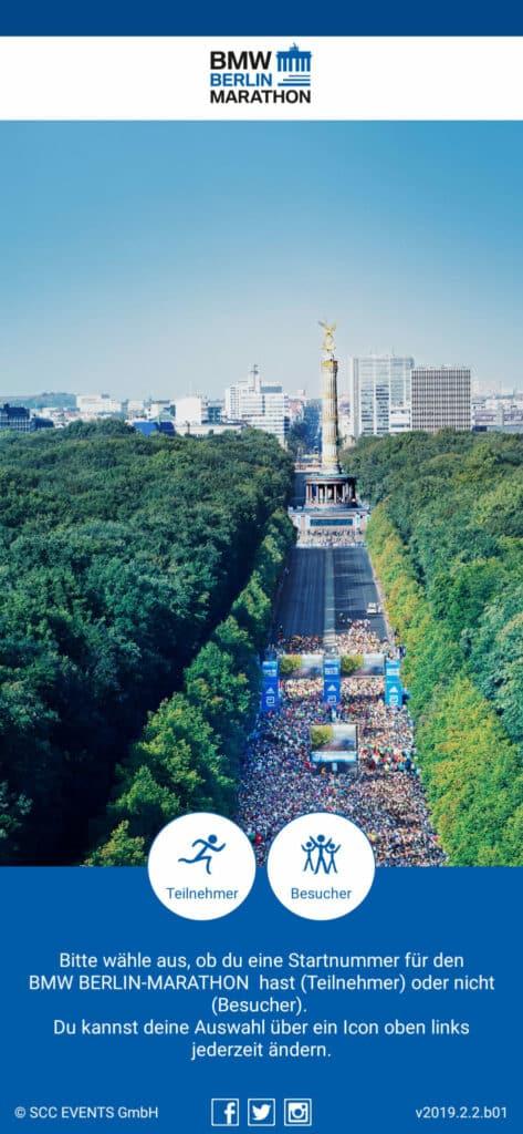 Berlin Marathon App Übersicht