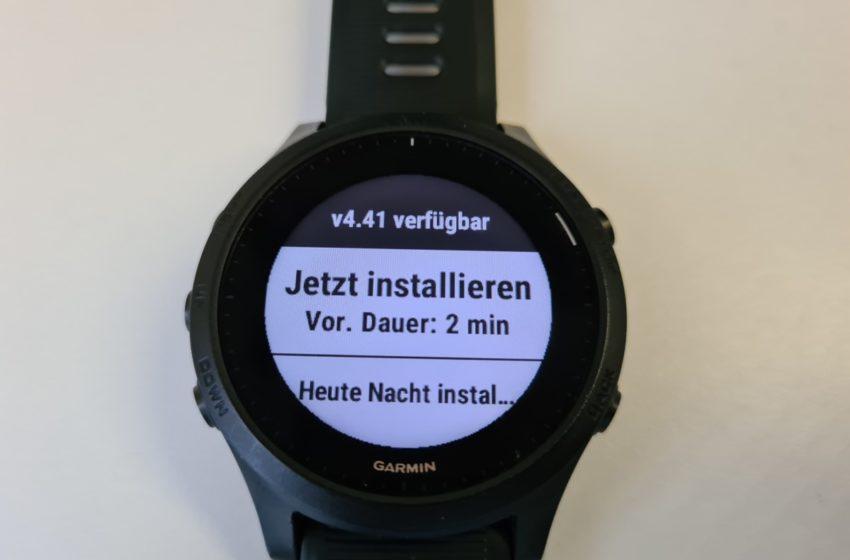 Firmware Update Forerunner